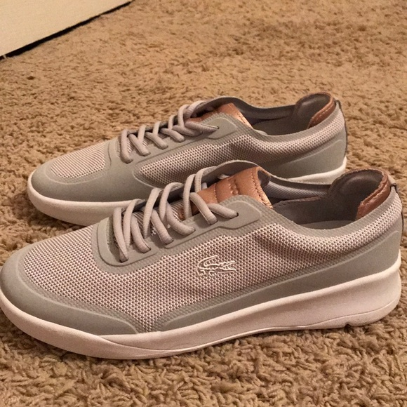 outlet store 469c8 5ae44 Lacoste women's sz 9 gray rose gold casual sneaker